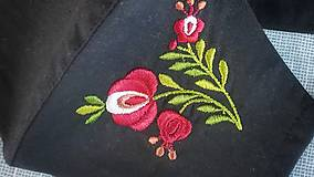Rúška - Dámske folk rúško (Zelená) - 12478798_
