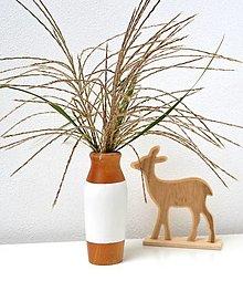 Dekorácie - Drevená vázička-minimalistická - 12480369_