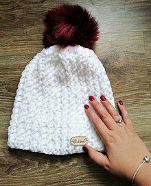 Čiapky - Pletená originálna čiapka - 12480459_