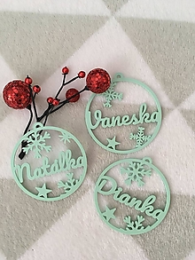 Dekorácie - Vianočná menovka - 12480742_