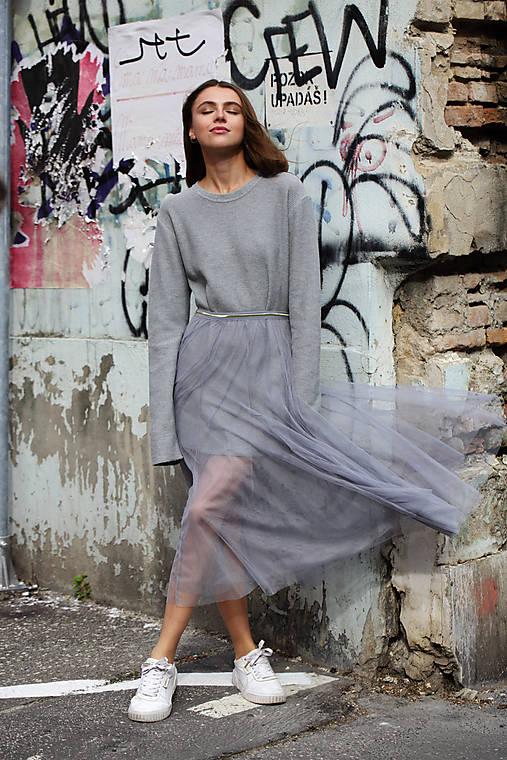 Sukne - Tylová, transparentná sukňa  - 12479890_