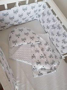 Textil - Mantinel do postieľky 180cm - 12478837_