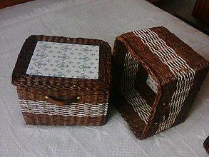 Košíky - Úložný box s vekom - 12481010_