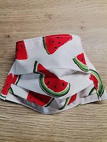 Rúška - Rúško 2-vrstvové melón - 12482016_