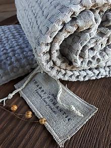 Úžitkový textil - Ľanová osuška a uterák Grey - 12483078_