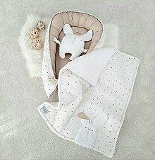 Textil - Sada PURE Latte (hniezdo/deka/zajko) - 12487065_