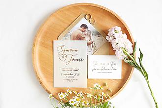 """Papiernictvo - Svadobné oznámenie """"Transparent I"""" - 12484526_"""