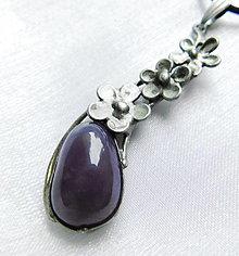 Náhrdelníky - Prívesok s fialovým chalcedónom ¤ MARIE ¤ - 12485936_