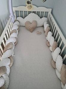 Textil - Dvojfarebný vrkoč - mantinel  do postieľky a postele - 12485347_