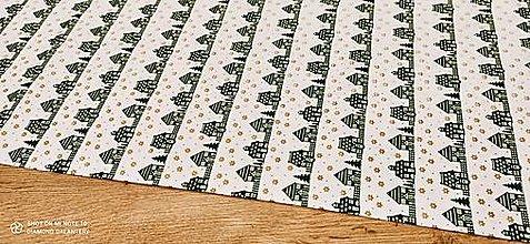 Textil - Bavlnená látka - Vianočné domčeky- cena za 10 cm - 12486059_