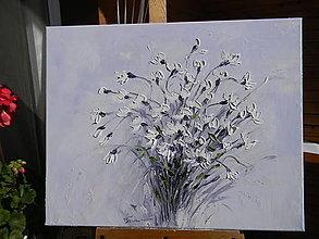 Obrazy - Biela kytica - 12484632_