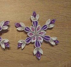Dekorácie - Vianočná hviezda fialová - 12489015_