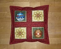 Úžitkový textil - Obliečka na vankúš vianočná - 12485634_