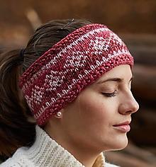 Čiapky - Cyklámenovo-ružová čelenka s nórskym vzorom - 12486721_