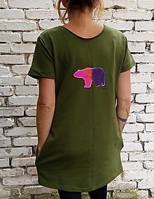 Šaty - Malované medvědí - 12487579_