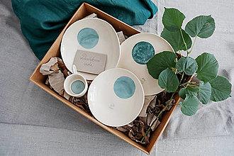 Nádoby - keramická darčeková sada svadobný dar - 12487686_