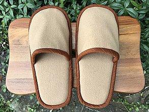 Obuv - Hnedé papuče - 12485533_
