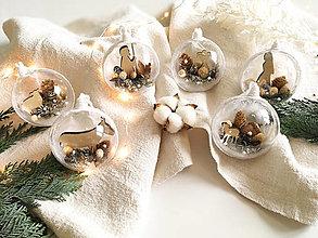 Dekorácie - Vianočné gule 6 ks Betlehem - 12486614_