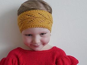 Detské čiapky - Čelenka s ažúrovou vzorkou - 12488566_