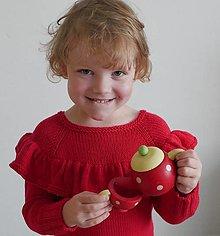 Detské oblečenie - Svetrík s volánom - 12488642_