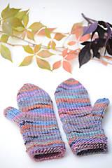 Rukavice - Dámske rukavice CATHY, modro-oranžové, 100% merino - 12485650_