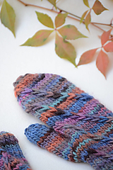 Rukavice - Dámske rukavice CATHY, modro-oranžové, 100% merino - 12485654_