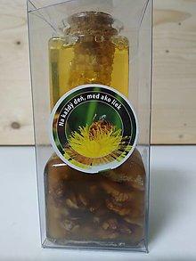 Potraviny - Včelí plást v mede a orechy v mede - 12488851_