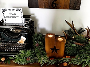 Svietidlá a sviečky - Vianočný svietnik - 12487262_