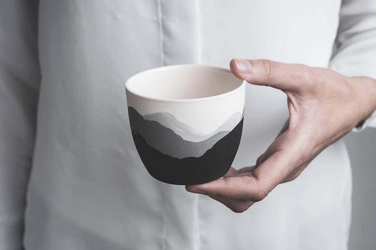 Nádoby - Porcelánový pohár - 12488744_