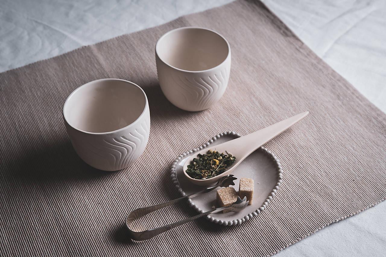 Nádoby - Porcelánový pohár (Biela) - 12488911_