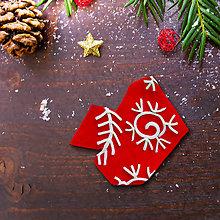 Magnetky - Vianočná magnetka - dekorovaná črepina (žhavá fujavica) - 12489180_