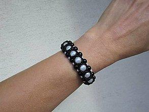 Náramky - Čierno biely náramok - 12485406_