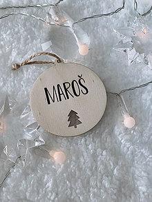 Dekorácie - Vianočná ozdoba s menom stromček - 12491059_