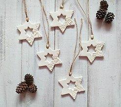 Dekorácie - Vianočné ozdoby - Hviezdičky - 12492114_