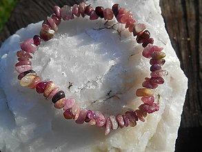 Náramky - pink turmalina-rúžový turmalín-náramok - 12494272_
