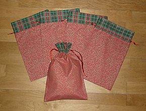 Úžitkový textil - Mikulášske/vianočné vrecúška na drobnosti (rozmer cca 30 x 20 cm) - 12492555_