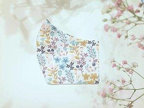 Rúška - Okrové kvetinky - Ochranné rúška dvojvrstvová - 12493105_