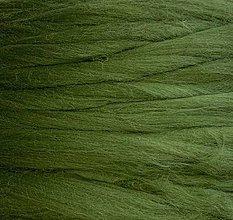 Suroviny - Vlna na plstenie Merino Olivová - 12490988_
