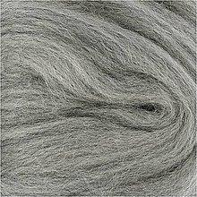 Suroviny - Vlna na plstenie Merino Sivá - 12491038_