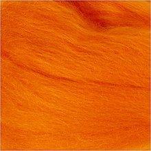 Suroviny - Vlna na plstenie Merino Oranžová - 12491144_