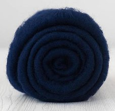 Suroviny - Vlna na plstenie Merino navy blue - 12491183_