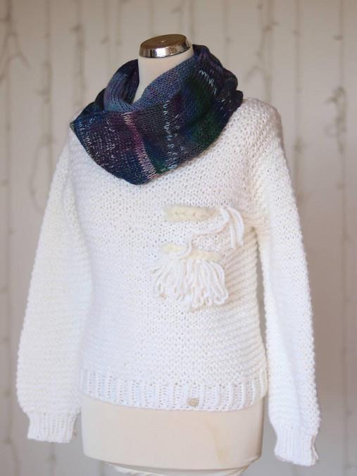 Pletený vlnený hrubý nákrčník (vlna, merino vlna, hodváb, alpaka)