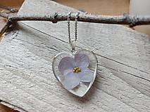 Náhrdelníky - Srdce s hortenziou - 12494710_