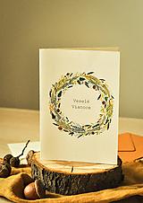 Papiernictvo - Vianočná pohľadnica - 12494218_