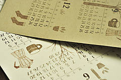 Grafika - Kalendár A3 záhrada - 12494229_