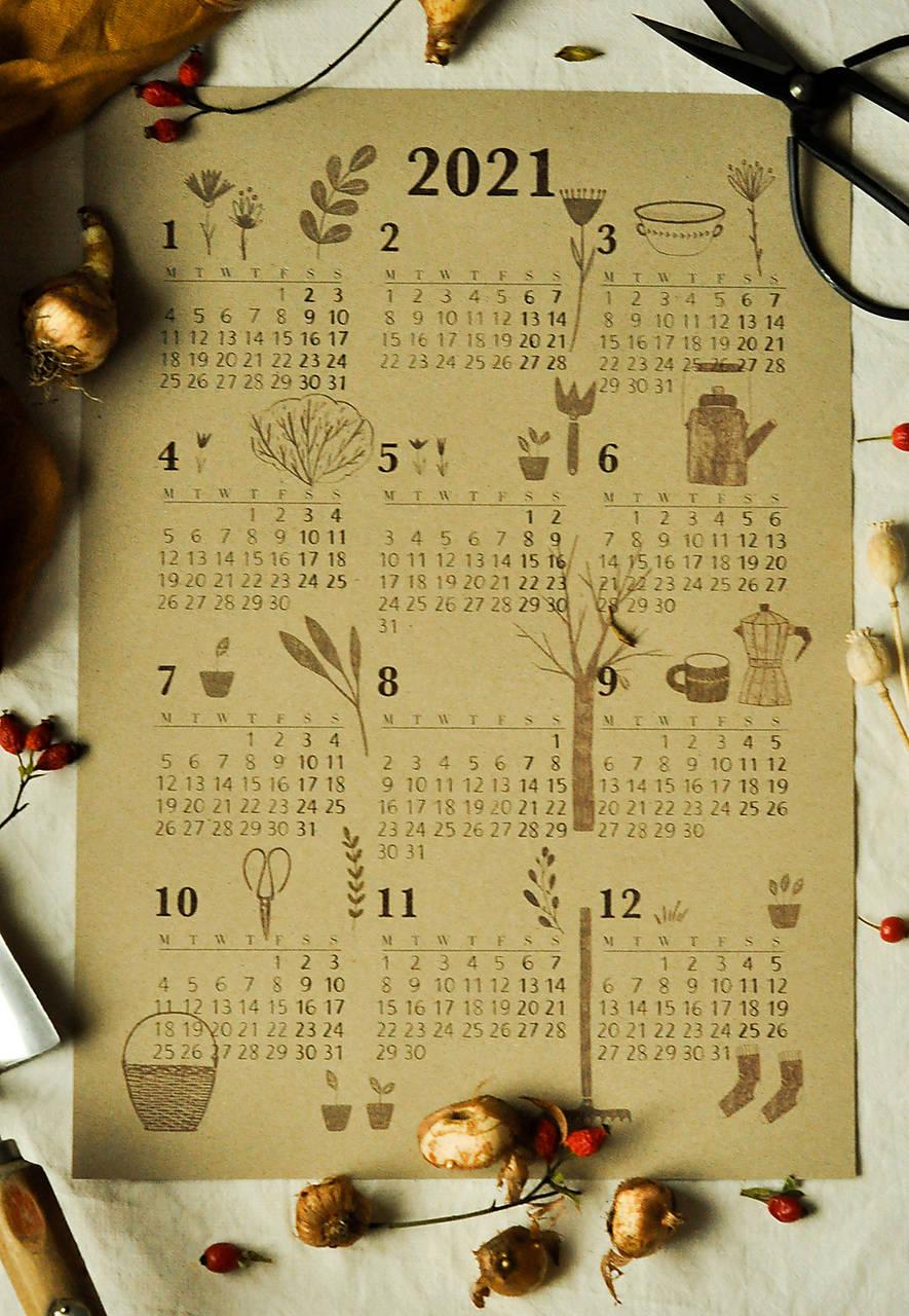 Kalendár A3 záhrada