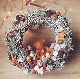 Vianočný veniec s mackom