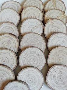 Dekorácie - Plátky z vianočného stromčeka 2019 - priemer 6 - 6,4 cm - 12491224_