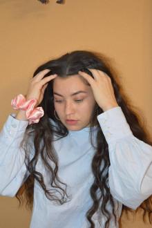 Ozdoby do vlasov - Gumička do vlasov-marhuľová - 12492729_