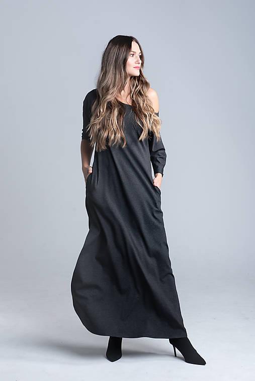 Šaty - Dlhé šaty s rozparkom - 12494658_